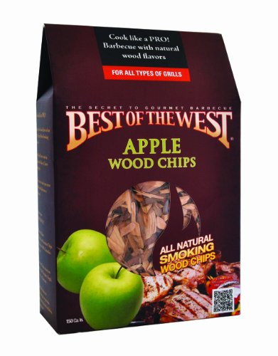 Best of the West 55003-4 Wood Smoking Chips Apple 150 Cubic Inch Box