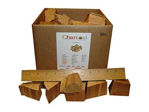 CharcoalStore Cherry Smoking Wood Chunks - No Bark 10 Pounds