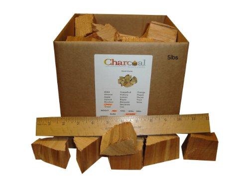 CharcoalStore Cherry Smoking Wood Chunks - No Bark 5 Pounds