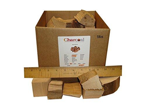 CharcoalStore Hickory Smoking Wood Chunks -No Bark 5 Pounds