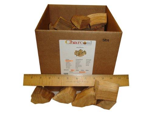 Charcoalstore Almond Wood Smoking Chunks - Bark 5 Pounds