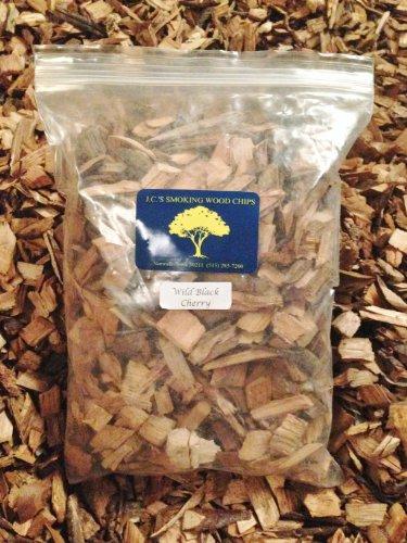 Jcs Smoking Wood Chips - 210 Cu Inch Gal Bag - Wild Black Cherry