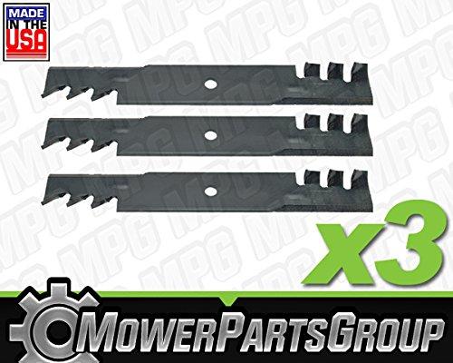 3 Hustler 48&quot Fastrak Replacement Mulching Blades Gator Style Zero Turn Mower 3 Pack