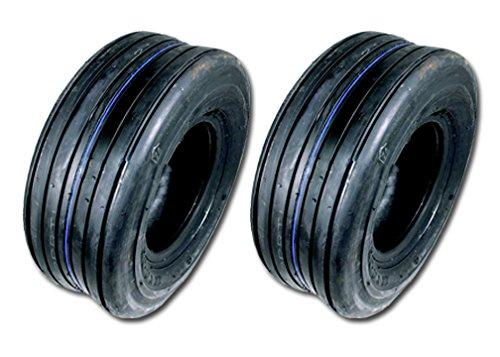 2 11x400-5 Rib Tires 4 Ply Lawn Mower Garden Tractor 11-400-5