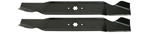 2 Pack - USA Mower Blades fits Toro 112-0315 MTD 742-0616 942-0616 942-616A Cub Cadet 942-04126 742-04126
