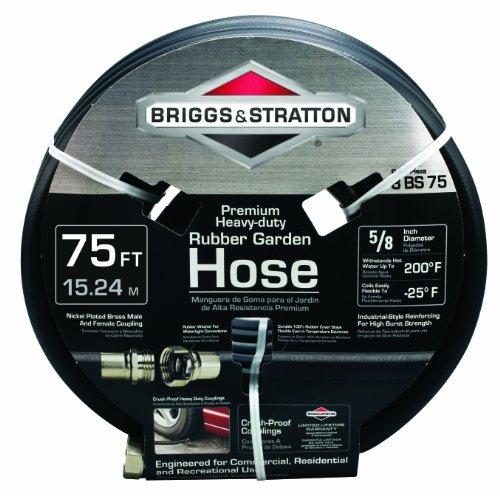 Briggs and Stratton 8BS75 75-Foot Premium Heavy-Duty Rubber Garden Hose