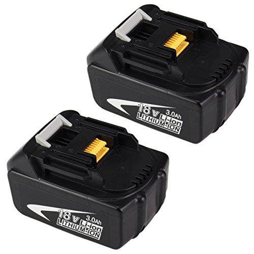 Topbatt 18v 30ah Li-Ion Rechargeable Battery for Makita Power Tool Bl1830 Bl1815 Bl1835 194205-3 Lxt-400 2 Packs