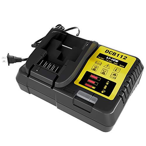 DCB112 12V 20V MAX Lithium Ion Battery Charger for Dewalt DCB206 DCB205 DCB204 DCB203 DCB201 DCB120 DCB127 Replace for DCB107 DCB105 DCB101 DCB115