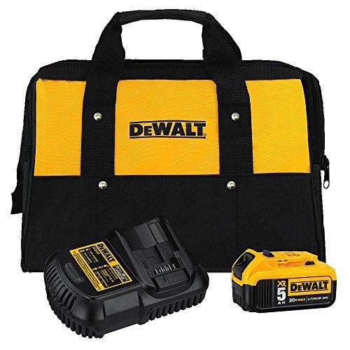 DEWALT 20V MAX Battery and Charger Kit with Bag 50Ah DCB205CK