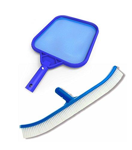 Pool Skimmer Net and Brush - Professional Heavy Duty Maintenance Kit for Pool