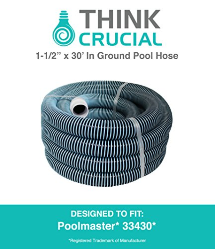 30 Foot Heavy Duty Swimming Pool Vacuum Hose 1-12&quot X 30 Lightweightamp Flexible With Sturdy Swivel Cuff Replaces