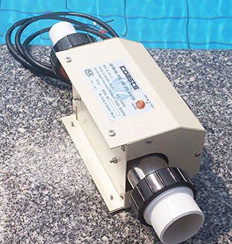 TOPCHANCES 3KW 220V 50HZ Swimming Pool Heater SPA Bathe Bath Hot Tub Thermostat Electric Water Heater