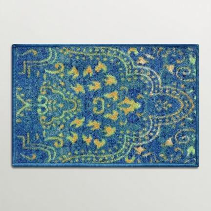 Blue Nylon Entrance Mat Floor Rug Doormat Shoe Scraper Home Indian IndoorOutdoor