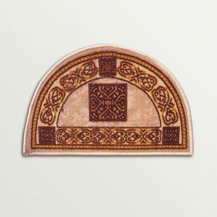 Brown and Beige Nylon D Shape Entrance Mat Floor Rug Doormat Shoe Scraper Home Indian IndoorOutdoor