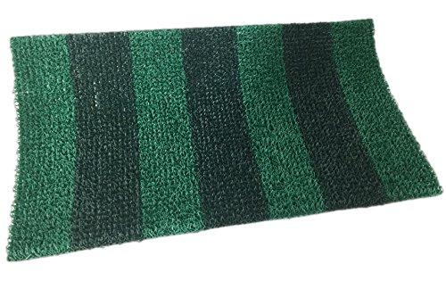 Clean Machine Astroturf Doormat Mat Green Striped Pattern 20&quotx36&quot Shoe Scraper