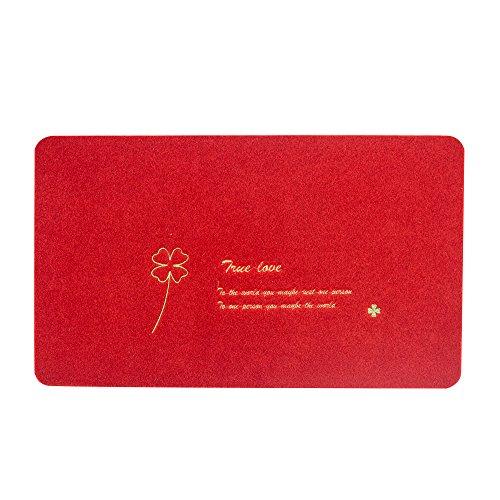 LVSMOT Floor Mats Entrance Rug Shoe Scraper Doormat20x315 red