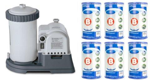 Intex 2500 Gph Krystal Clear Pool Filter Pump W Gcfiamp 6 Type B Cartridges