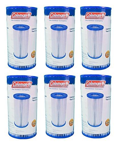 Coleman Type Iii Ac Pool Filter Pump Replacement Cartridge 6-pack  90307