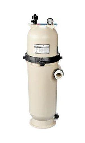 Pentair 160355 Cleanamp Clear Rp Fiberglass Reinforced Polypropylene Tank Cartridge Pool Filter 150 Square Feet