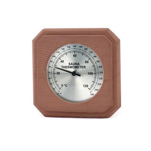 Cedar Encased Sauna Thermometer C-F 5 12 x 5 12