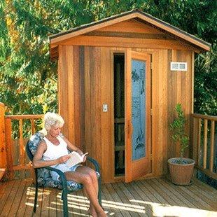Finlandia Outdoor Sauna 8 x 8 with Roof Kit