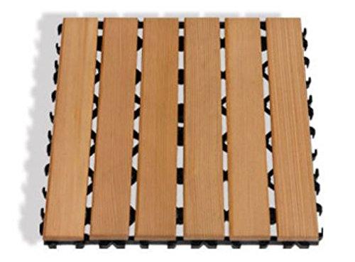 12 X 12 Cedar Sauna Floor Mat
