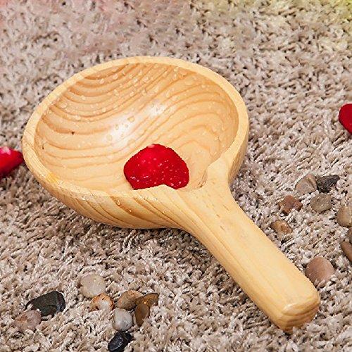 Countylinen Solid Cedar Wooden Spoon Water Ladle For Foot Massage Spa Sauna Bath