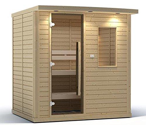 Goldstar 1250 Prebuilt Traditional Sauna wCanopy Lights