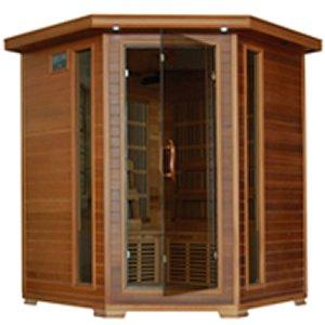 Whistler-4 Person Corner Infrared Cedar Sauna