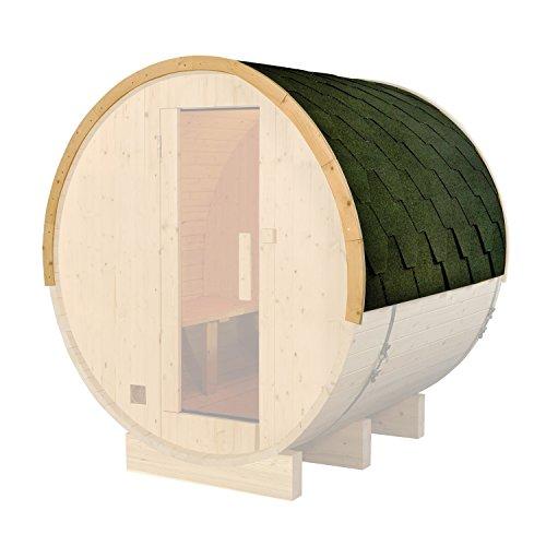 ALEKO SB8CPSHINGLERF Green Shingle Bitumen Sauna Roof Set for 93x72x75 Inches Barrel Sauna