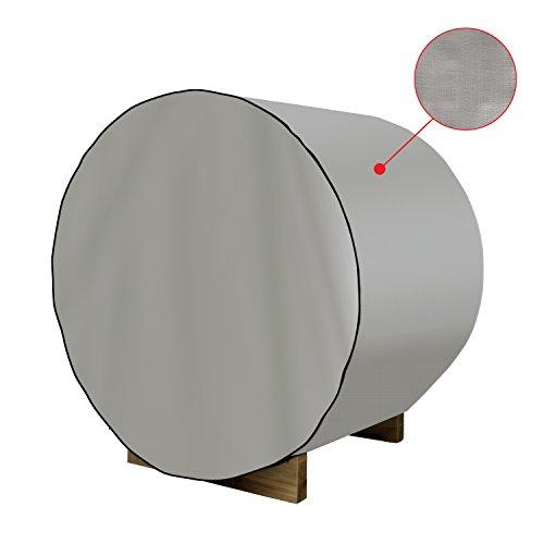 ALEKO SB8DC Dust Coat For 93x72x75 Inch SB8PINECP Barrel Sauna All Weather Polyethylene Protecting Cover