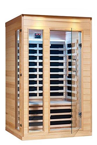 Royal Saunas 2 Persons Far Infrared Hemlock Saunas W5 Low Emf Nano Carbon Mica Heaters