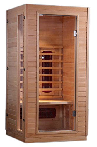 Royal Saunas 1-2 Person Far Infrared Hemlock W3 Ceramic Heaters
