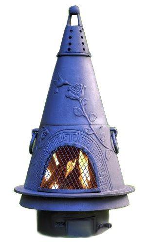 Chiminea Outdoor Fireplace Wood Burning Garden Design