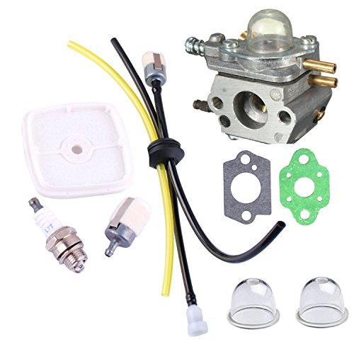 PODOY C1U-K52 Carburetor Fuel Line Kit with Air Filter Spark Plug Primer Bulb for ECHO GT200EZR GT2000R PAS2000 PAS2100 PE-2000 PP1200 PP800 PPF2100 PPF2110 PPSR2122 PPT2100 Power Pruner Trimmer