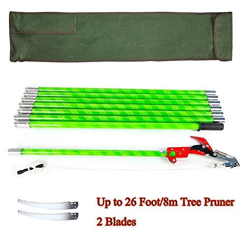 ETPUVIUMBE 26 Feet Tree Pole Pruner 8Poles Saw Trimmer Shear Cutter Fiskers Coconut Branch