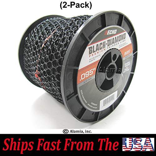 2-Pack Echo Black Diamond 095 330095073 Commercial Trimmer Line 3-Lbs Medium Spool 885 Feet