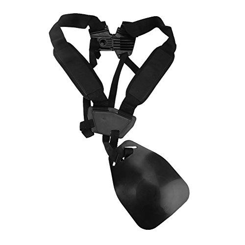 Fdit Lawnmower Harness Adjustable Double Adjustable Shoulder Strap Nylon Lawnmower Shoulder Belt for Garden Strimmer