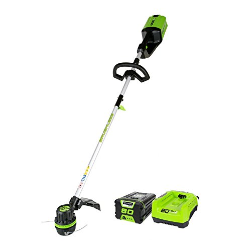 Greenworks Pro St80l210 80v 16-inch Cordless String Trimmer 2ah Battery And Charger Included