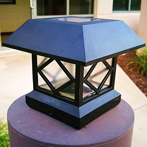 4pack 5 Post Sizes Mountable Black Vinyl Bright Sturdy And Big Solar Post Cap Lights Sogrand Solar Lights