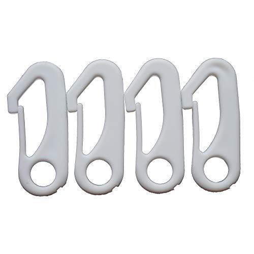 Ashley ZC 4 PCS White Flag Pole Snap Hook Clips - FlagPole Attachment Hardware - Durable Nylon Accessory