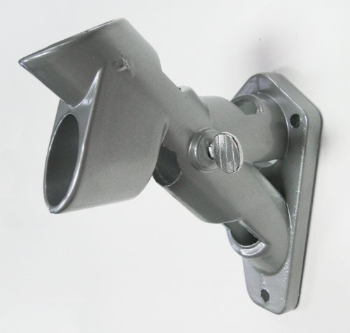 1 Diameter 2-position Silver Aluminum Flagpole Bracket with Hardware - Quinn Flags Brand