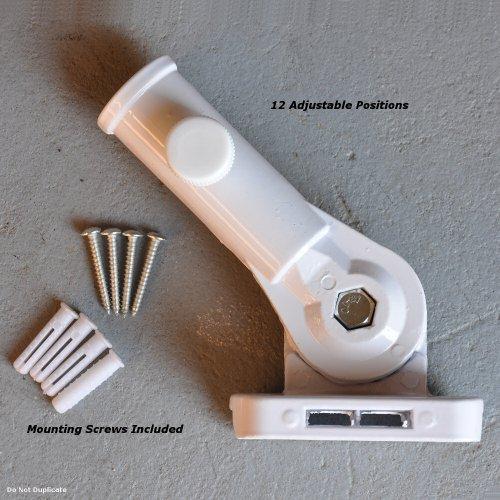 Flag Bracket Adjustable Aluminum White Flagpole Holder