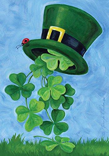 Toland - Shamrock Shower - Decorative Clover Saint Pat Patrick Green USA-Produced House Flag