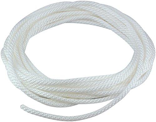 14 Diameter x 50 Length White Flagpole Polypropylene Halyard - Flagpole Rope