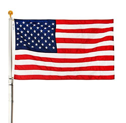 Ezpole Flagpoles Liberty Flagpole Kit Telescoping Flagpole 21-Feet
