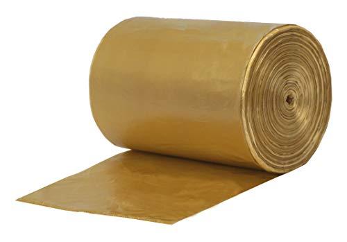 Gereen 8-12 Gallon Extra Strong Trash bag Garbage Bag Bin Bag Trash Can Liner Golden 8-12 Gallon100 Counts