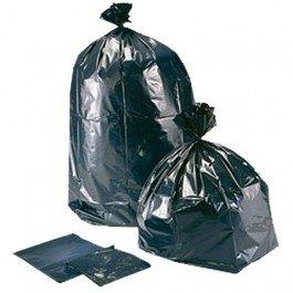 "40"" X 46"" Black Heavy Duty Trash Can Liner - 100 Per Case"