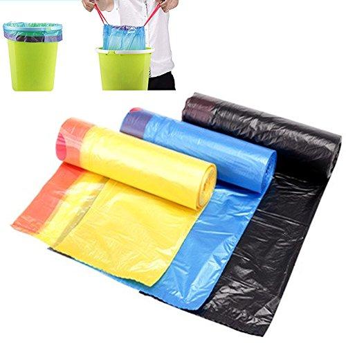 20L Drawstring Trash Bag Odor Shiled Tall Kitchen Bin Liner Heavy Duty Trash Garbage Wastebasket Bags with Handle-tie Refuse Bag for Kitchen Home Office Random ColorRandom Color