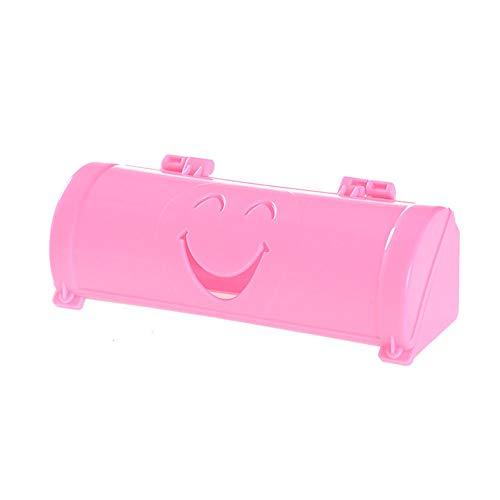 YHCWJZP Disposable Bag Storage BoxOrganizer BoxSmile Disposable Refuse Bag Storage Box Holder Receiving Case Arranging Supplies Pink
